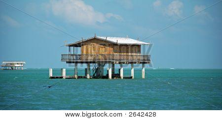 Wooden Stilt House In Stiltsville Florida
