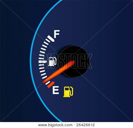 Out Of Gas - A car's gas tank is empty.