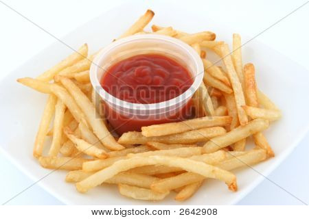 Fresh Fries In Plate