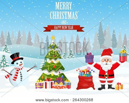 Christmas Celebration Cartoon Images.New Year Christmas Vector Photo Free Trial Bigstock