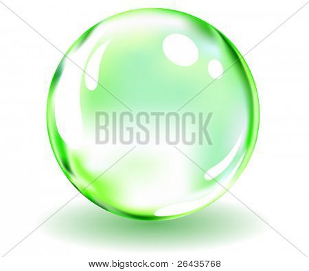 vector of glossy green spere