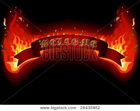 welcome fire banner