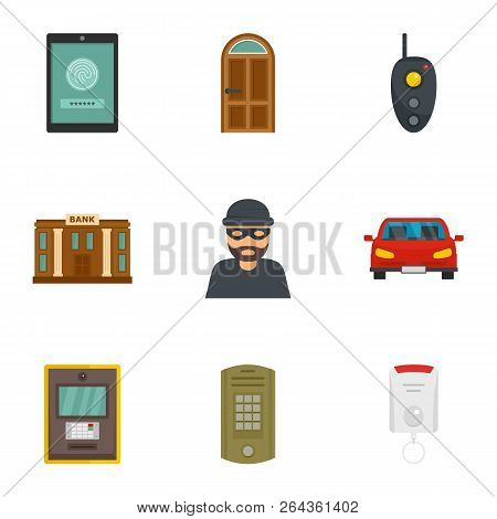 Finance Security Icon Set. Flat Set Of 9 Finance Security Vector Icons For Web Design