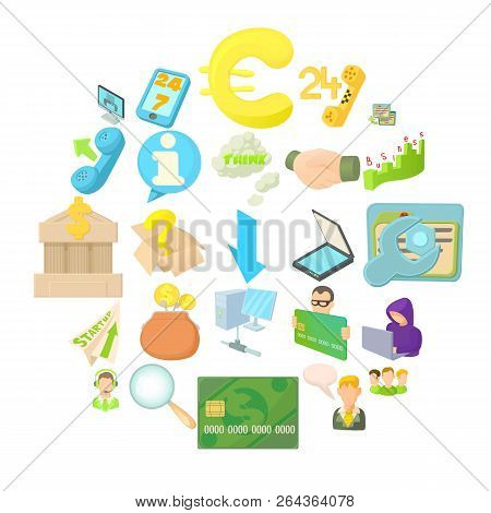 Payment By Card Icons Set. Cartoon Set Of 25 Payment By Card Vector Icons For Web Isolated On White