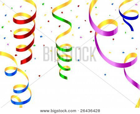 colored streamers