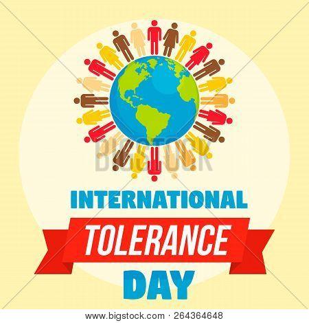 International Tolerance Day Concept Background. Flat Illustration Of International Tolerance Day Vec