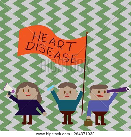 Writing Note Showing Heart Disease. Business Photo Showcasing Heart Disorder Conditions That Involve