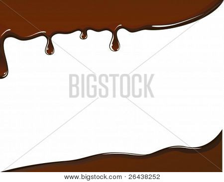 vector of melted chocolate card
