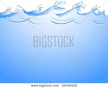 Vector of ocean waves background