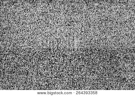 No Signal Tv Texture. Television Grainy Noise Effect As A Background. No Signal Retro Vintage Televi
