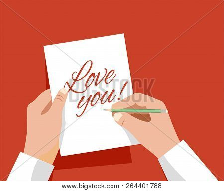 Sign A Card That Says I Love You