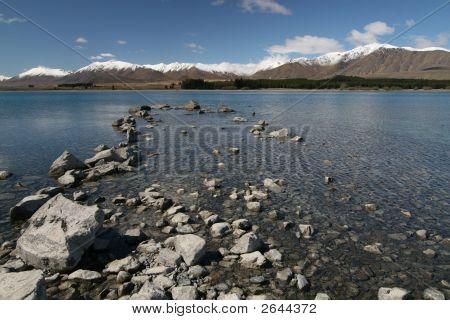 Lake Tekapo - Lakeshore - Mckenzie Country New Zealand poster