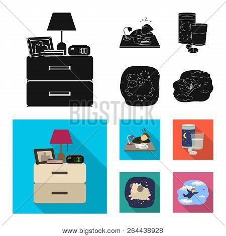 Vector Design Of Dreams And Night Icon. Set Of Dreams And Bedroom Stock Vector Illustration.