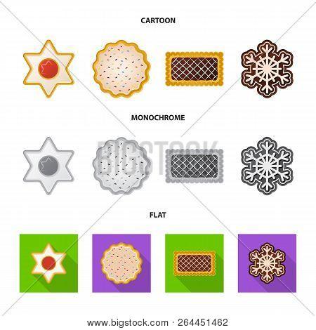 Vector Illustration Of Biscuit And Bake Symbol. Set Of Biscuit And Chocolate Stock Vector Illustrati