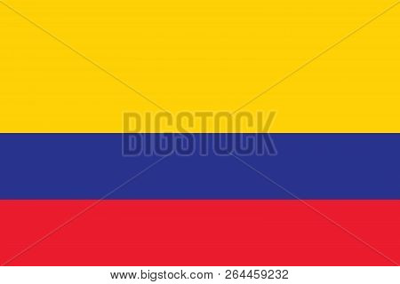Vector Image For Colombia Flag. Based On The Official And Exact Colombian Flag Dimensions (3:2) & Co