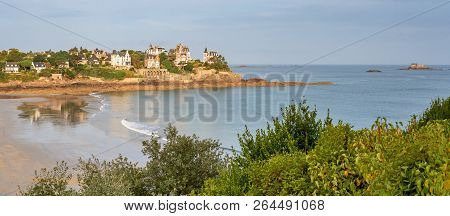 French Landscape - Bretagne. View Over The Beach Of Dinard.