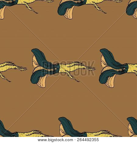 Horseradish Vector Coloured Warm Pattern For Web, Textile, Branding, T-shirts, Cards, Craft