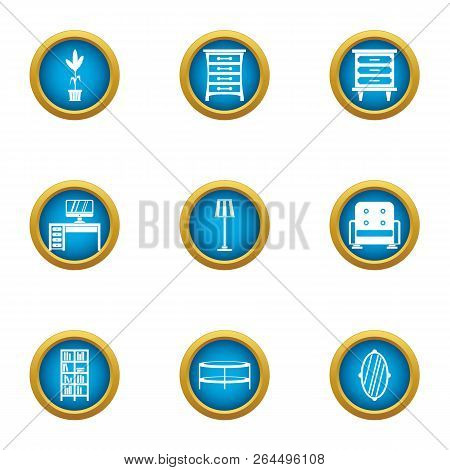 Working Corner Icons Set. Flat Set Of 9 Working Corner Vector Icons For Web Isolated On White Backgr