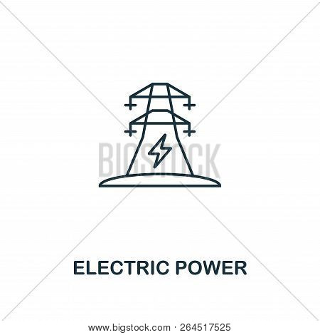 Electric Power Icon Outline Style. Premium Pictogram Design From Power And Energy Icon Collection. S