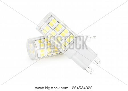 Two Led Lamps Isolated On White Background