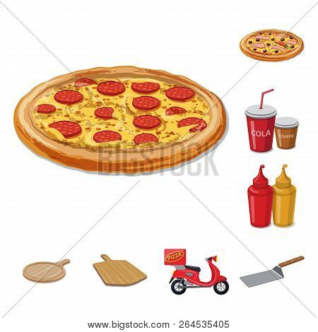 Vector Illustration Of Pizza And Food Symbol. Collection Of Pizza And Italy Stock Vector Illustratio