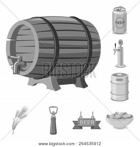 Isolated Object Of Pub And Bar Symbol. Set Of Pub And Interior Vector Icon For Stock.