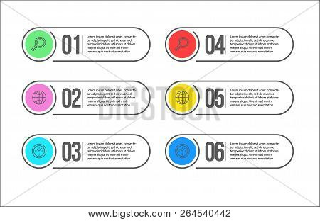 3 Steps Colourful Banners For Landing Or Presentations Marketing
