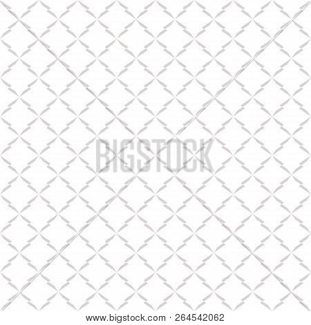 Subtle Vector Ornament Pattern. Minimalist Seamless Pattern With Delicate Grid, Mesh, Lattice, Net.