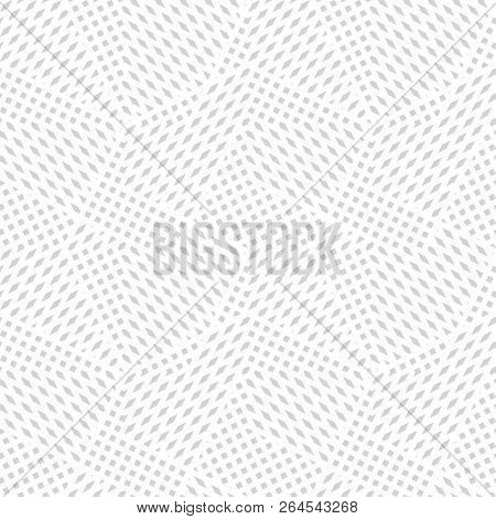 Vector Geometric Seamless Pattern. Abstract Graphic Background With Tiny Shapes, Squares, Rhombuses.