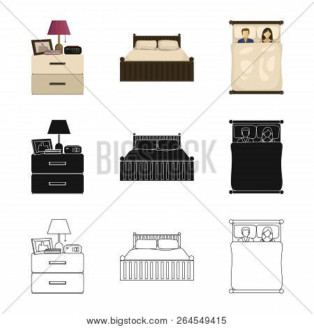 Isolated Object Of Dreams And Night Logo. Collection Of Dreams And Bedroom Stock Vector Illustration
