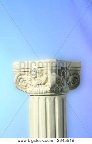Pedestal On Dreamy Background