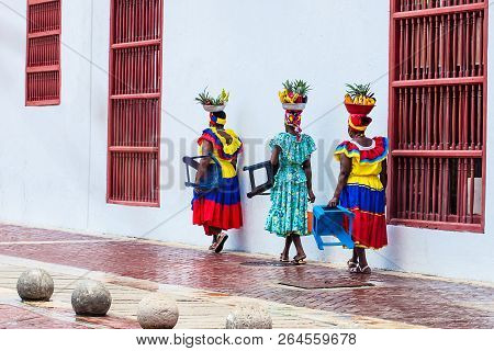 Cartagena De Indias, Colombia - August, 2018: