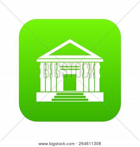 Colonnade Icon Digital Green For Any Design Isolated On White Vector Illustration