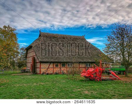 Farmhouse At The Baltic Sea In Autumn