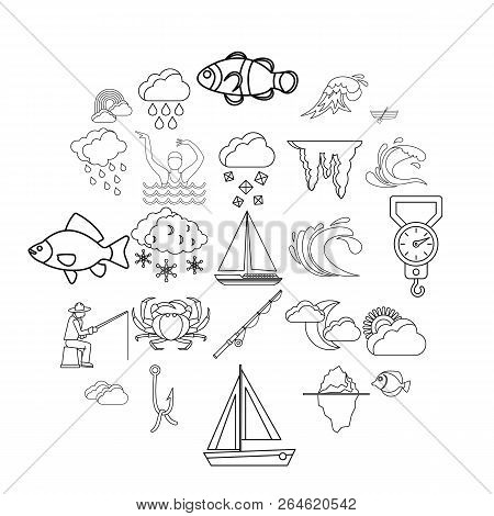 Vacuity Icons Set. Outline Set Of 25 Vacuity Vector Icons For Web Isolated On White Background