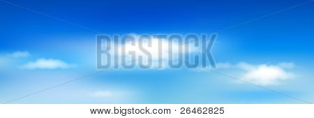 Fundo com céu azul e nuvens