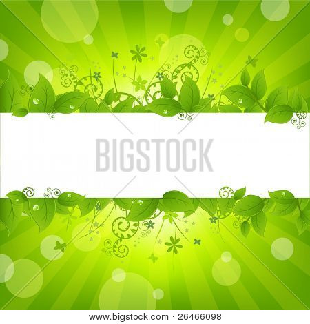 Ecology Nature Background, Vector Illustration