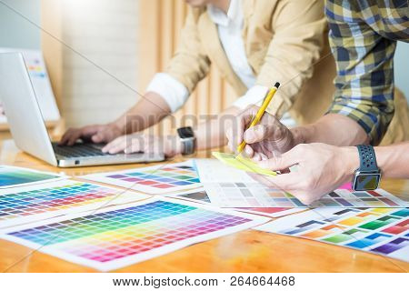 Professional Creative Architect Graphic Desiner Occupation Choosing The Color Pantone  Palette Sampl