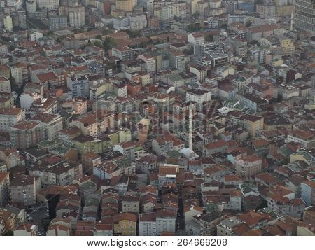 Istanbul City From Top View Tipical Street Viewn
