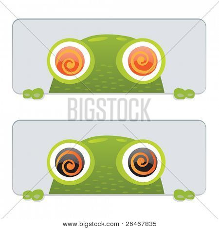2 Hypno Frog, Isolated On White Background