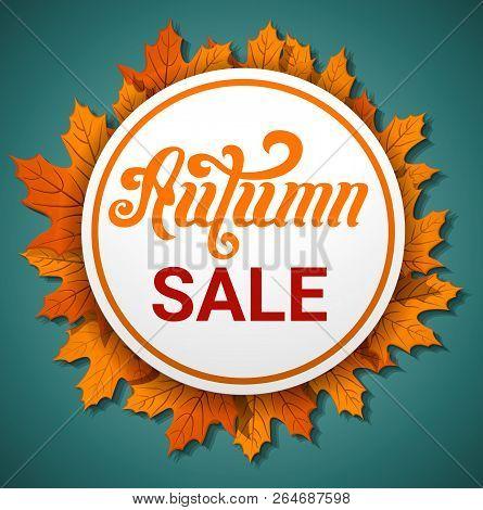 Autumn Final Sale Concept Banner. Cartoon Illustration Of Autumn Final Sale Concept Banner For Web D