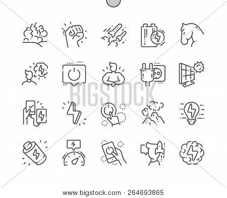 Power Well-crafted Pixel Perfect Vector Thin Line Icons 30 2x Grid For Web Graphics And Apps. Simple