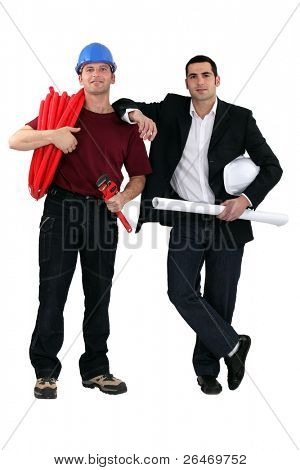 Plumber and architect