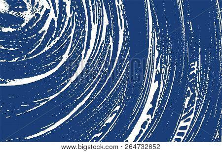 Grunge Texture. Distress Indigo Rough Trace. Excellent Background. Noise Dirty Grunge Texture. Livel