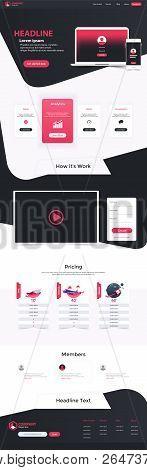 Website Landing Page Design Web Analytics Website Vector Template Design