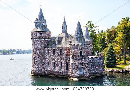 Historic Boldt Castle In The 1000 Islands Region Of New York State On Heart Island In St. Lawrence R