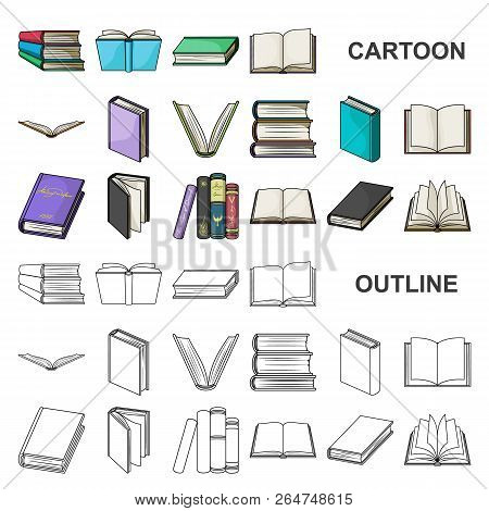 Book In The Binding Cartoon Icons In Set Collection For Design. Printed Products Vector Symbol Stock