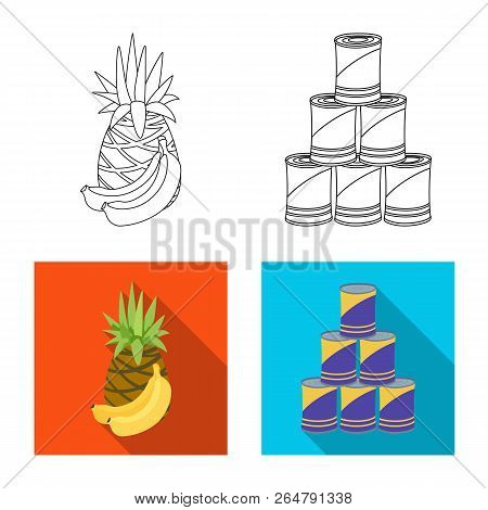 Vector Illustration Of Food And Drink Icon. Collection Of Food And Store Vector Icon For Stock.