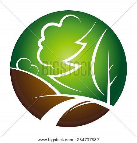 Landscape Design Symbol Vector Symbol Logo Icon