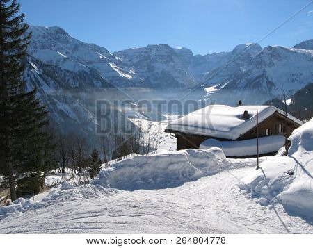Braunwald skiing resort, Switzerland